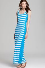 Three Dots Column Dress with Racer Stripes - Lyst