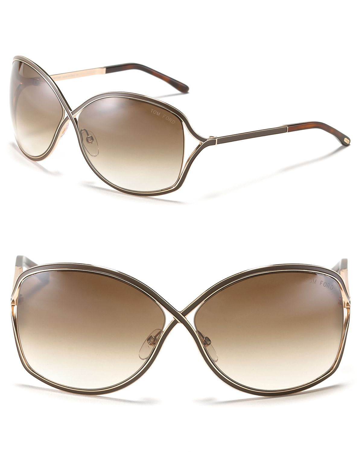 a54d45cff533c Tom Ford Rickie Cross Sunglasses in Pink - Lyst
