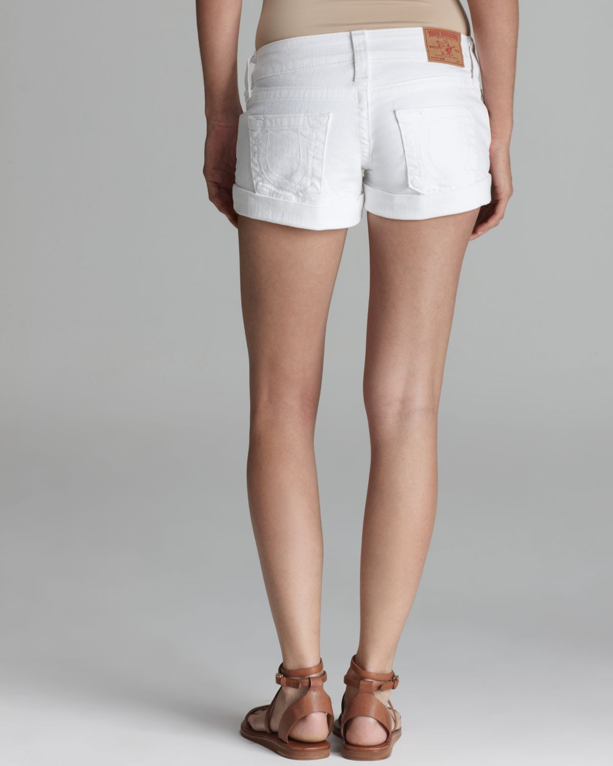 True religion Shorts Allie Cuffed in White | Lyst