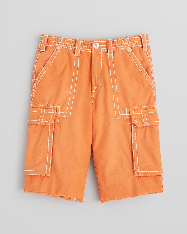 True religion Issac Big T Cargo Shorts in Orange for Men   Lyst
