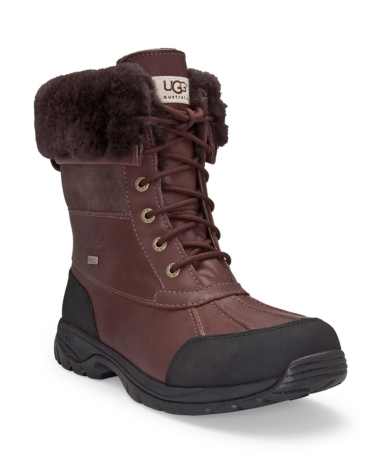 Ugg Mens Butte Waterproof Leather Boots In Brown For Men