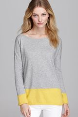 Vince Sweater Cotton Slub Color Block - Lyst