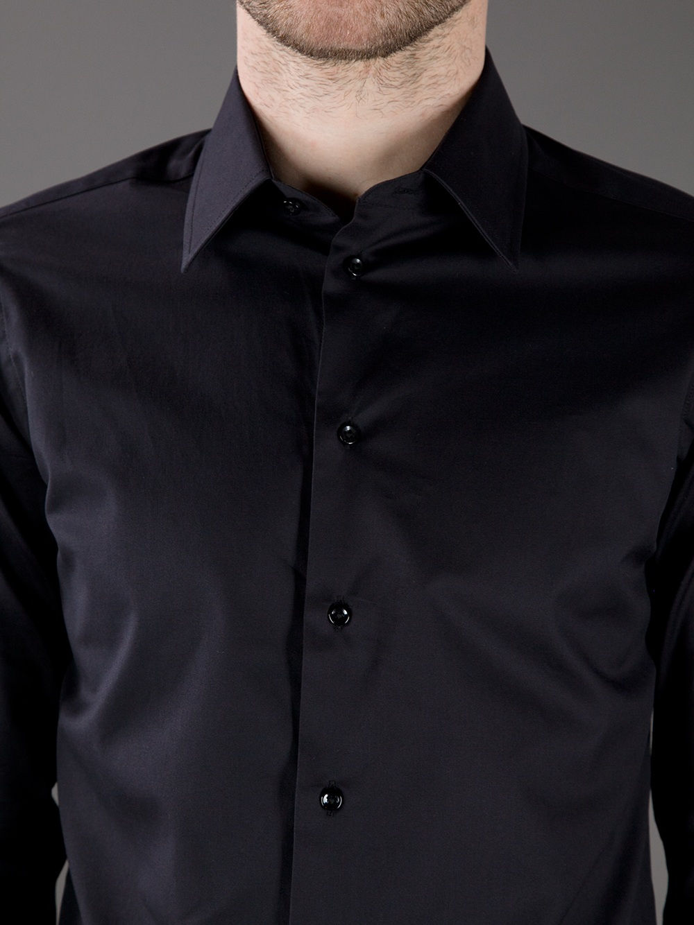 Lyst Armani Button Down Shirt In Black For Men