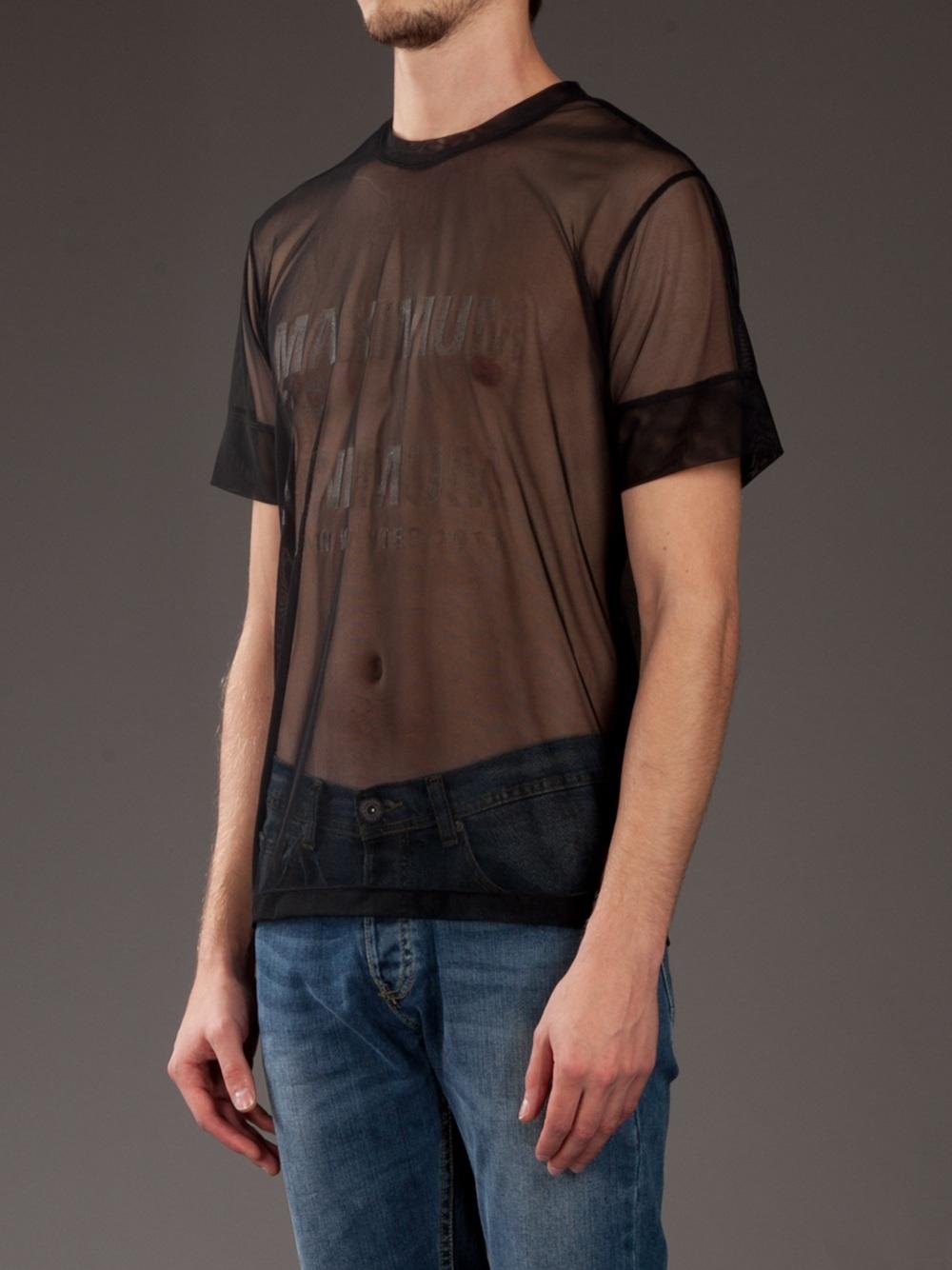 d4b9de2f2 Sexy Dominik Mens Round Collar Sleeveless Mesh Shirt MHB2196 Black