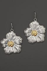 Buccellati Blossom Medium Drop Flower Earrings with Gold Accents - Lyst