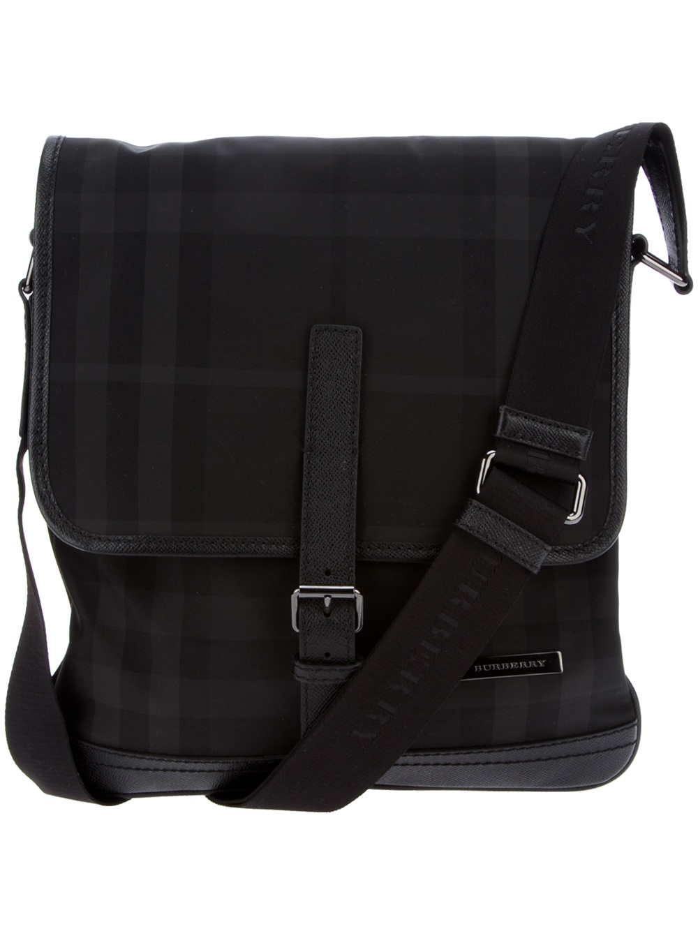 2e258197058d Lyst - Burberry Messenger Bag in Black for Men