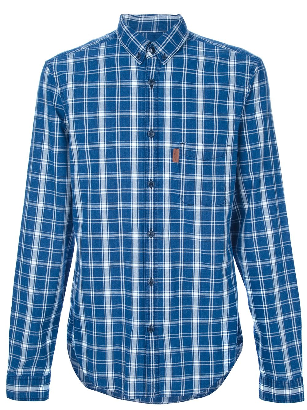 Lyst burberry brit checked shirt in blue for men for Burberry brit checked shirt