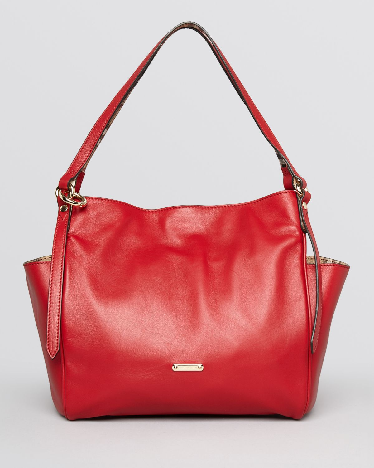967c7570d5ae Lyst - Burberry Tote Small Canterbury in Red