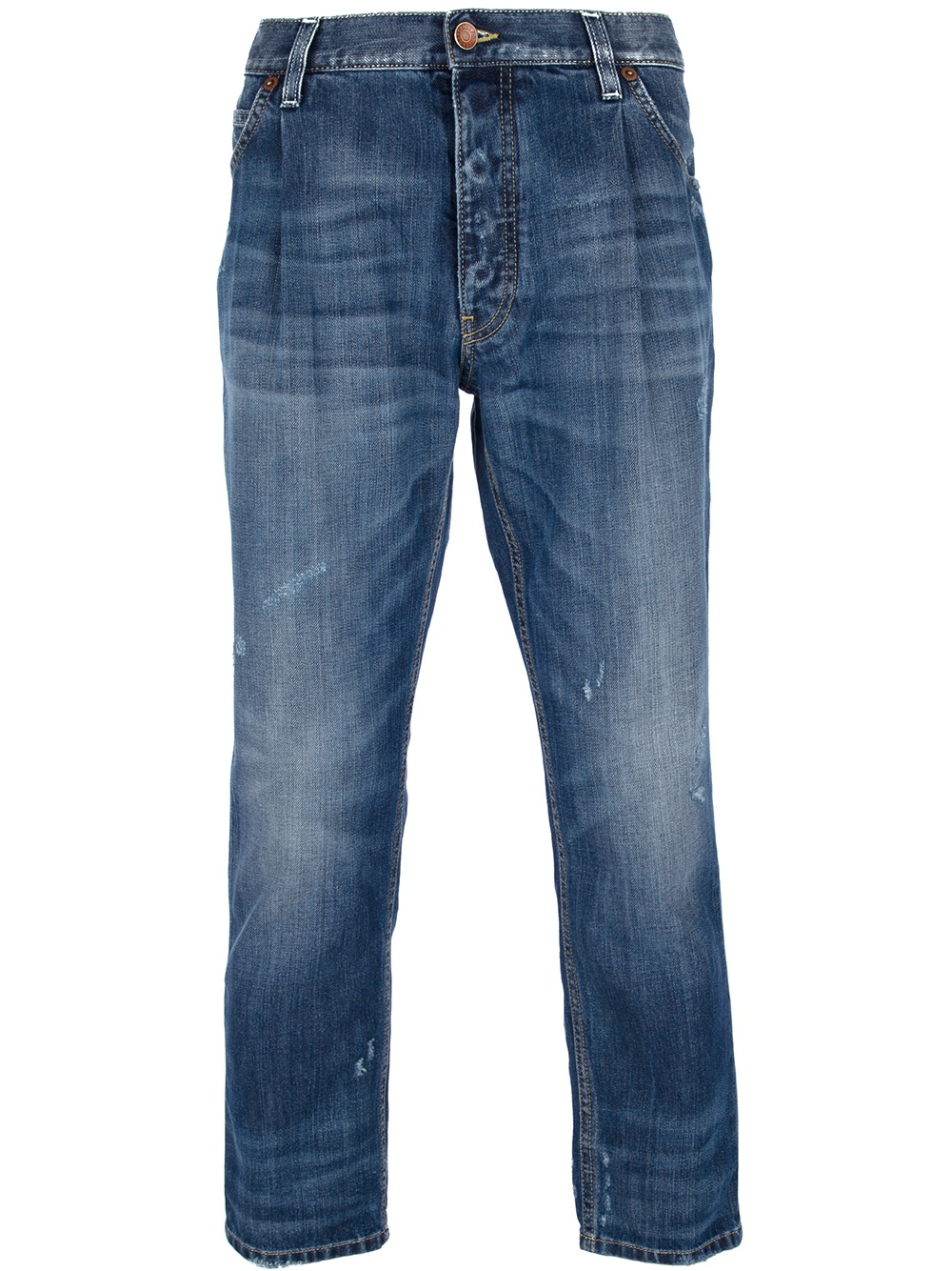علت پیچیدن پاچه شلوار لی Dolce & gabbana Cropped Jean in Blue for Men Lyst