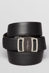 Ferragamo Reversible Stamped Logo Buckle Belt - Lyst