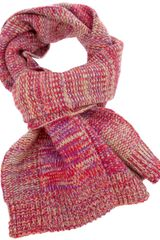Folk Flecked Knit Scarf - Lyst