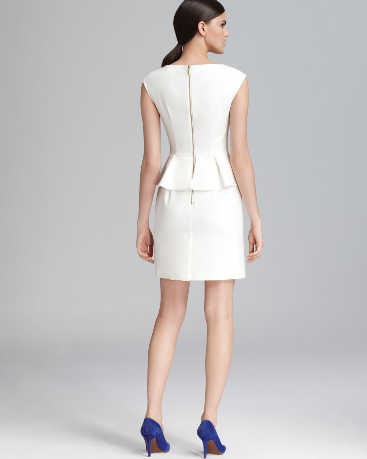 408bd36f59a1 Lyst - French Connection Dress Peplum in White