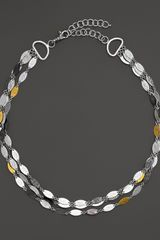 Gurhan Sterling Silver and 24k Gold Willow Necklace 16 - Lyst