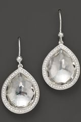 Ippolita Ippolita Sterling Silver Stella Earrings in Clear Quartz with Diamonds - Lyst