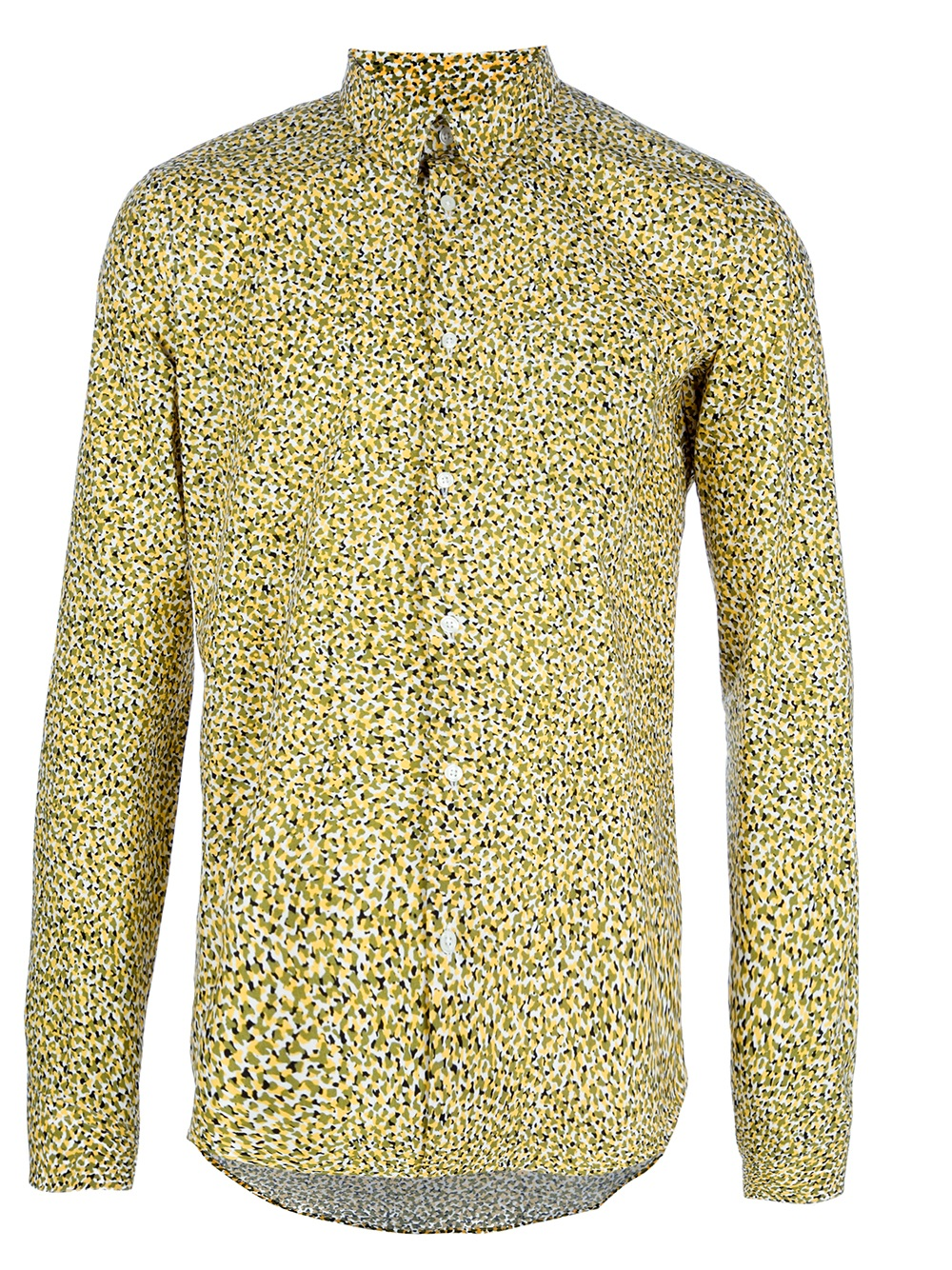 Kenzo Patterned Button Down Shirt in Yellow for Men | Lyst