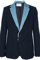 Kolor Denim Lapel Blazer - Lyst