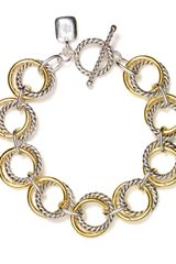 Lauren by Ralph Lauren Two Tone Chain Link Bracelet - Lyst