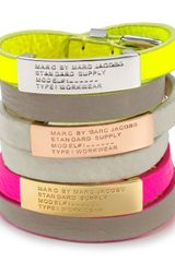 Marc By Marc Jacobs Standard Supply Double Wrap Leather Bracelet - Lyst