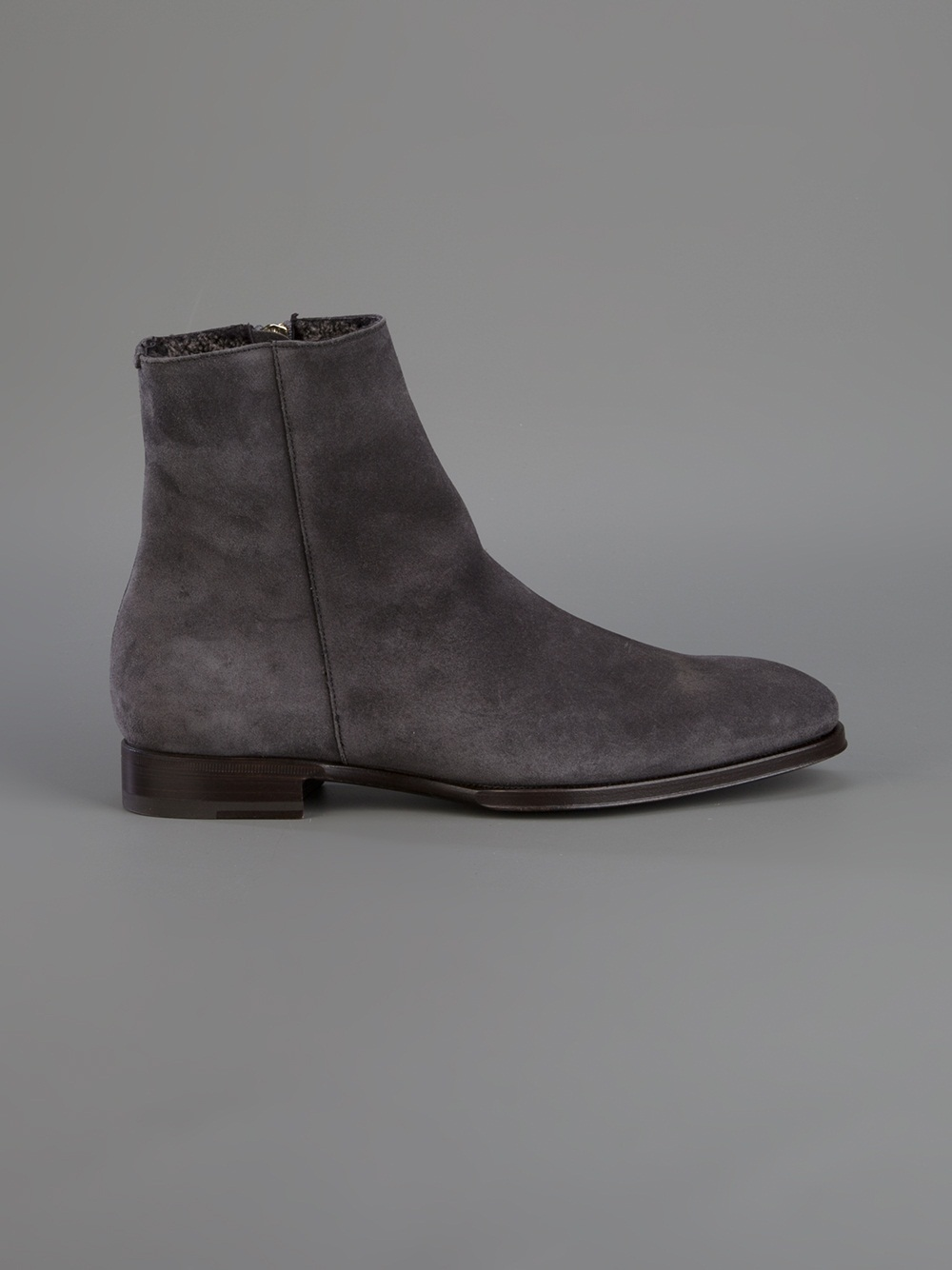 Lyst Max Verre Zip Ankle Boot In Gray For Men