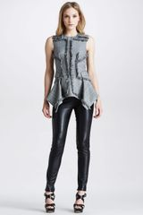 McQ by Alexander McQueen Womens Marine Leather Pants - Lyst