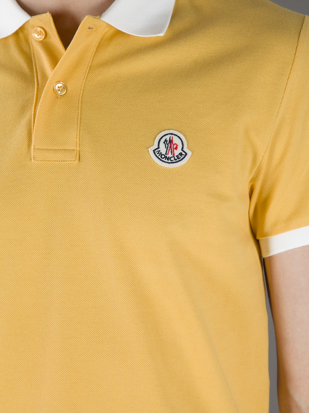 0bfbdab1a7c5 closeout yellow polo shirt with white collar 17dea 07337