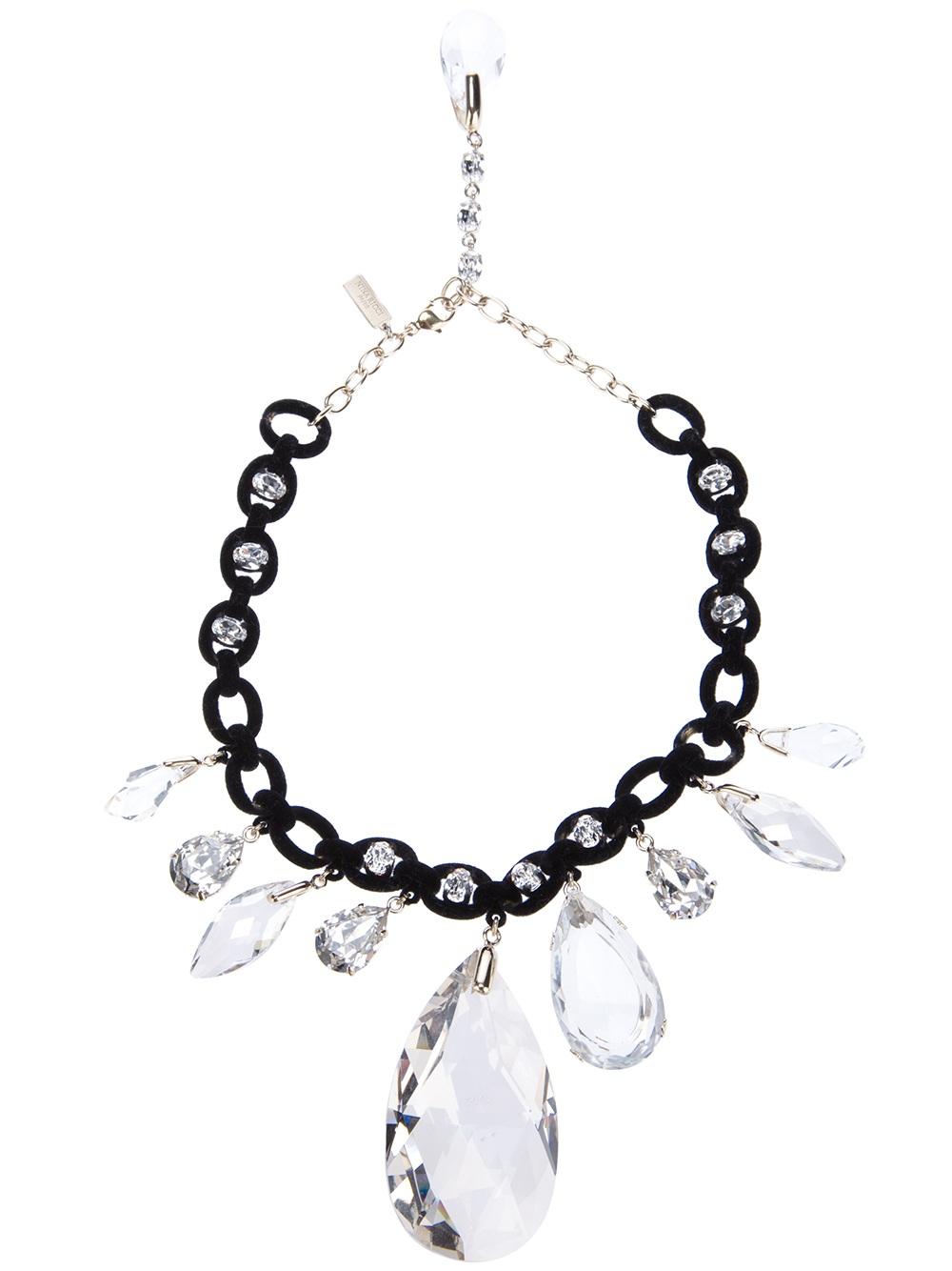 crystal studded choker - White Nina Ricci xcKImFLlhK
