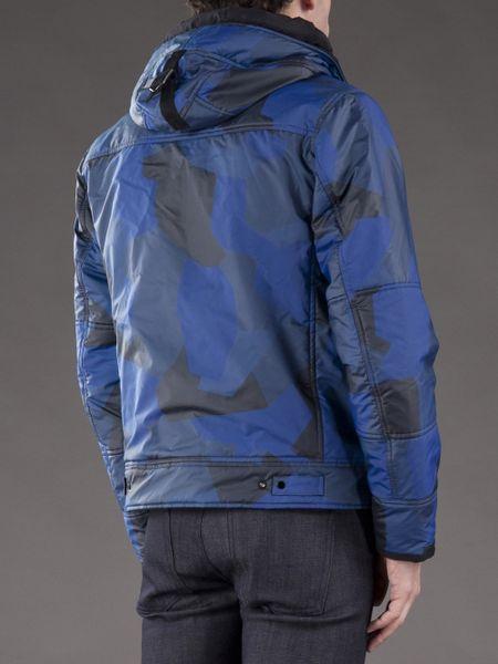 Stone Island Camo Reflective Jacket In Blue For Men Camo