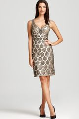 Sue Wong Embellished Dress Sleeveless V Neck - Lyst