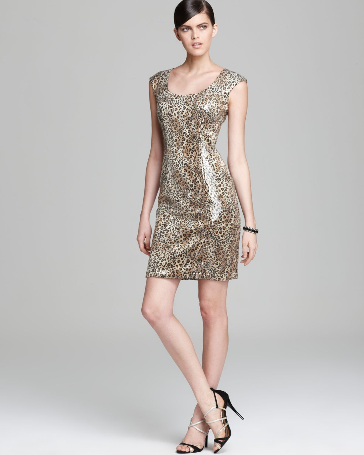 Animal Print Sequin Dress