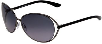 Tom Ford Oval Frame Sunglasses - Lyst