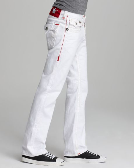 True Religion Jeans Ricky Super T Straight Fit in Optic ...