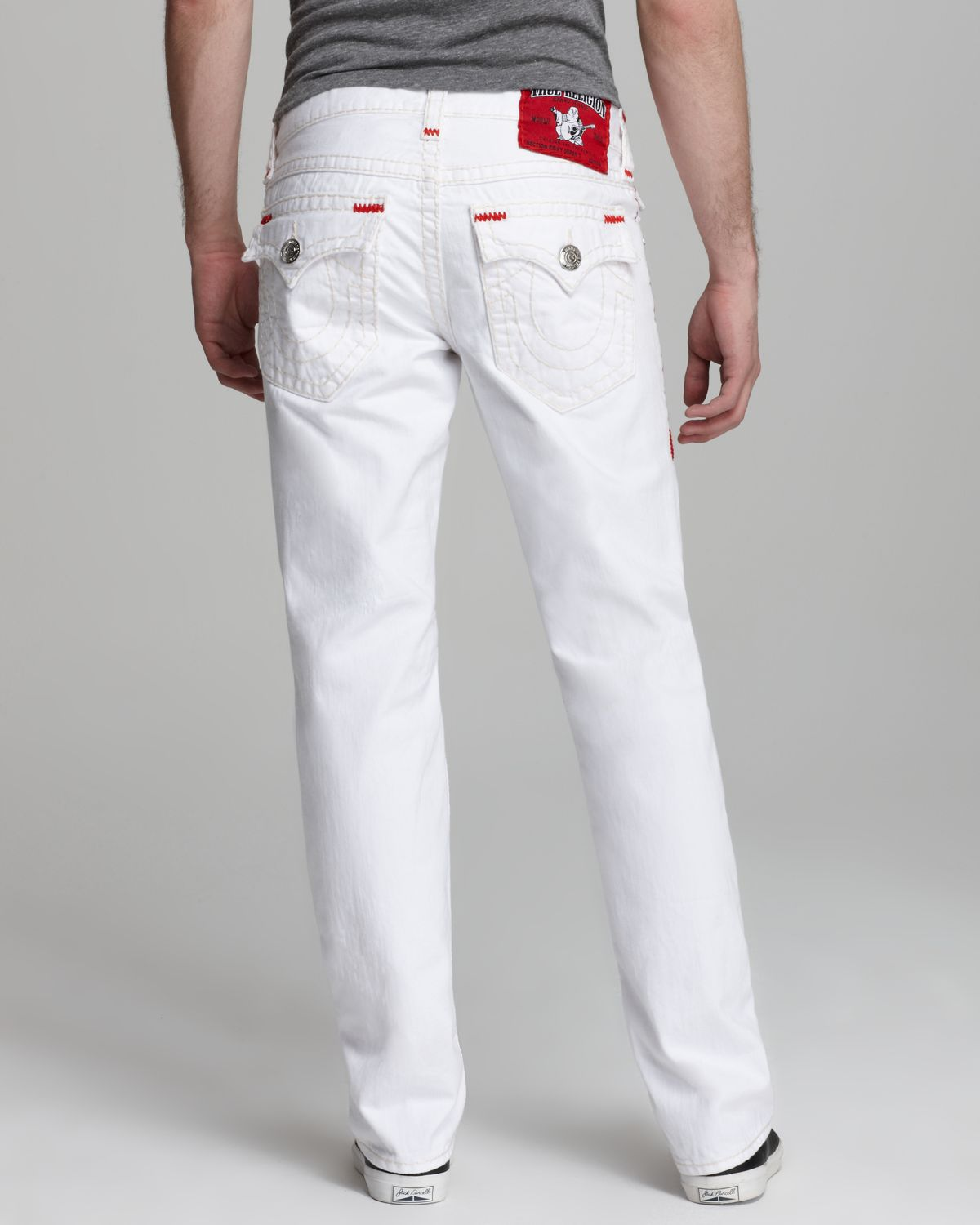 True religion Jeans Ricky Super T Straight Fit in Optic White in ...