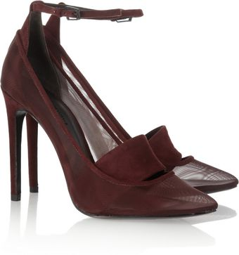 Alexander Wang Sabine Suede and Mesh Pumps - Lyst