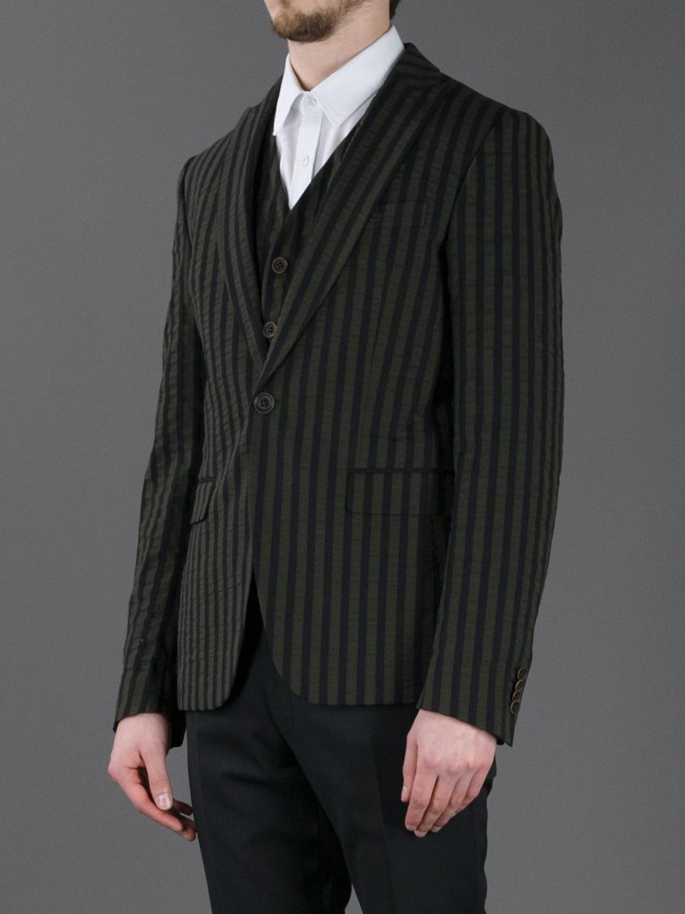 1544fe3e97 Lyst - Diesel Black Gold Striped Blazer in Natural for Men