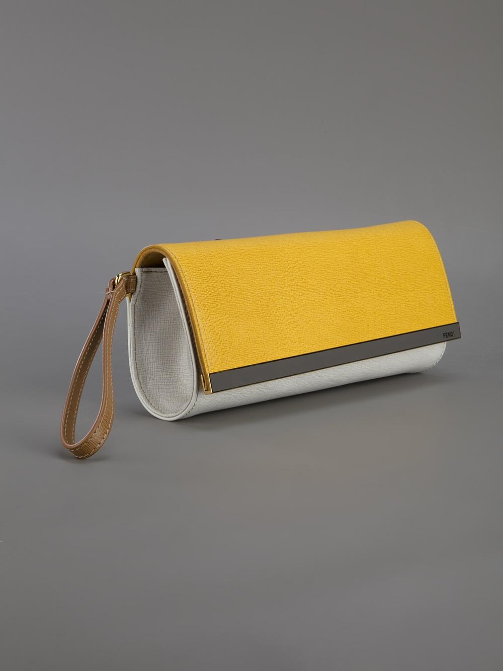 Fendi Clutch Yellow