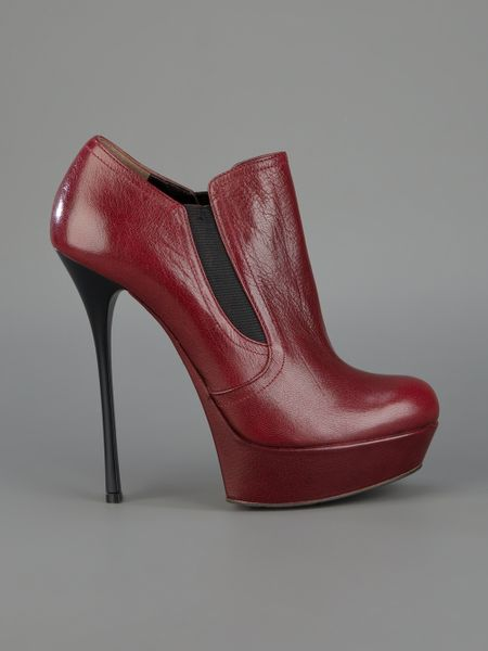 Gianmarco Lorenzi Stiletto Shoe Boot In Red Lyst