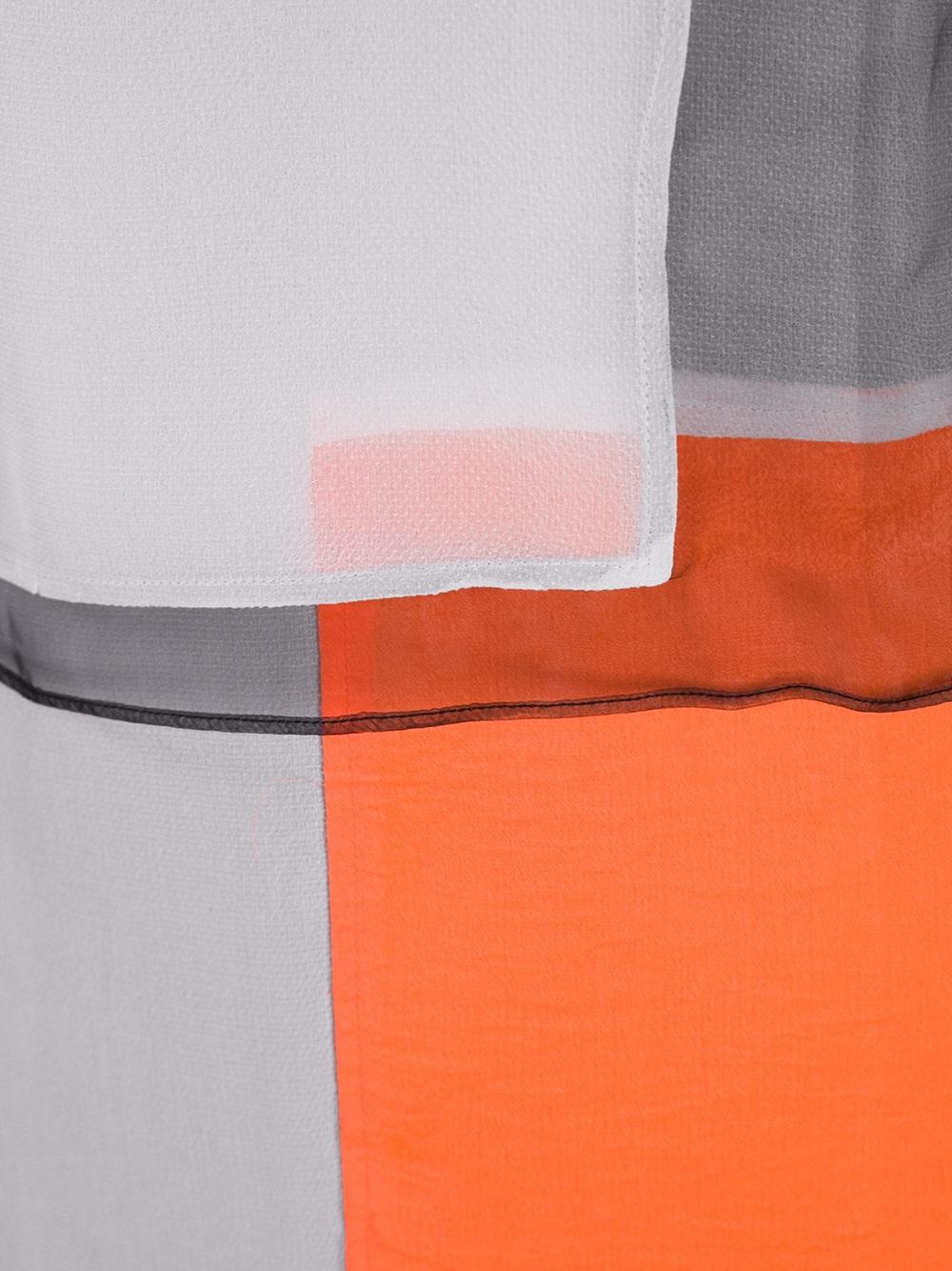 Helmut lang orange and blackshiftdress