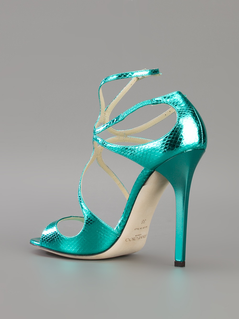 Lyst Jimmy Choo Lance Sandal In Green