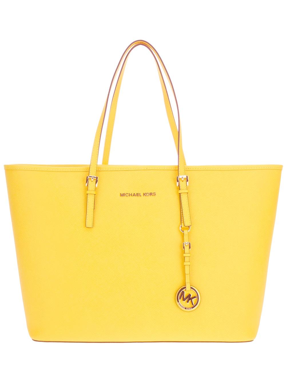 497479388f Michael Kors Shopper Tote in Yellow - Lyst