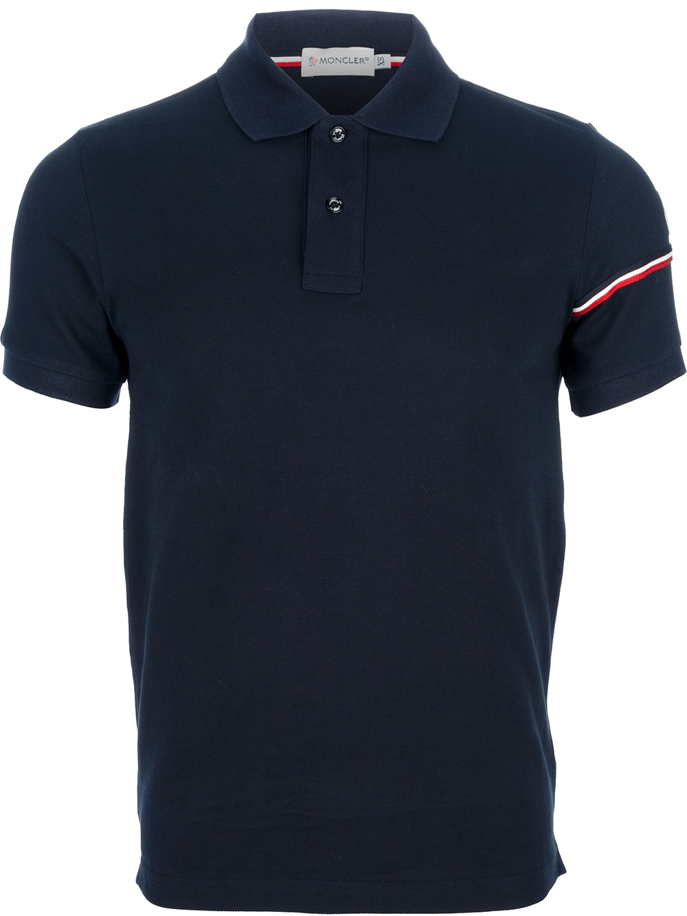 Lyst moncler classic polo shirt in blue for men Man in polo shirt