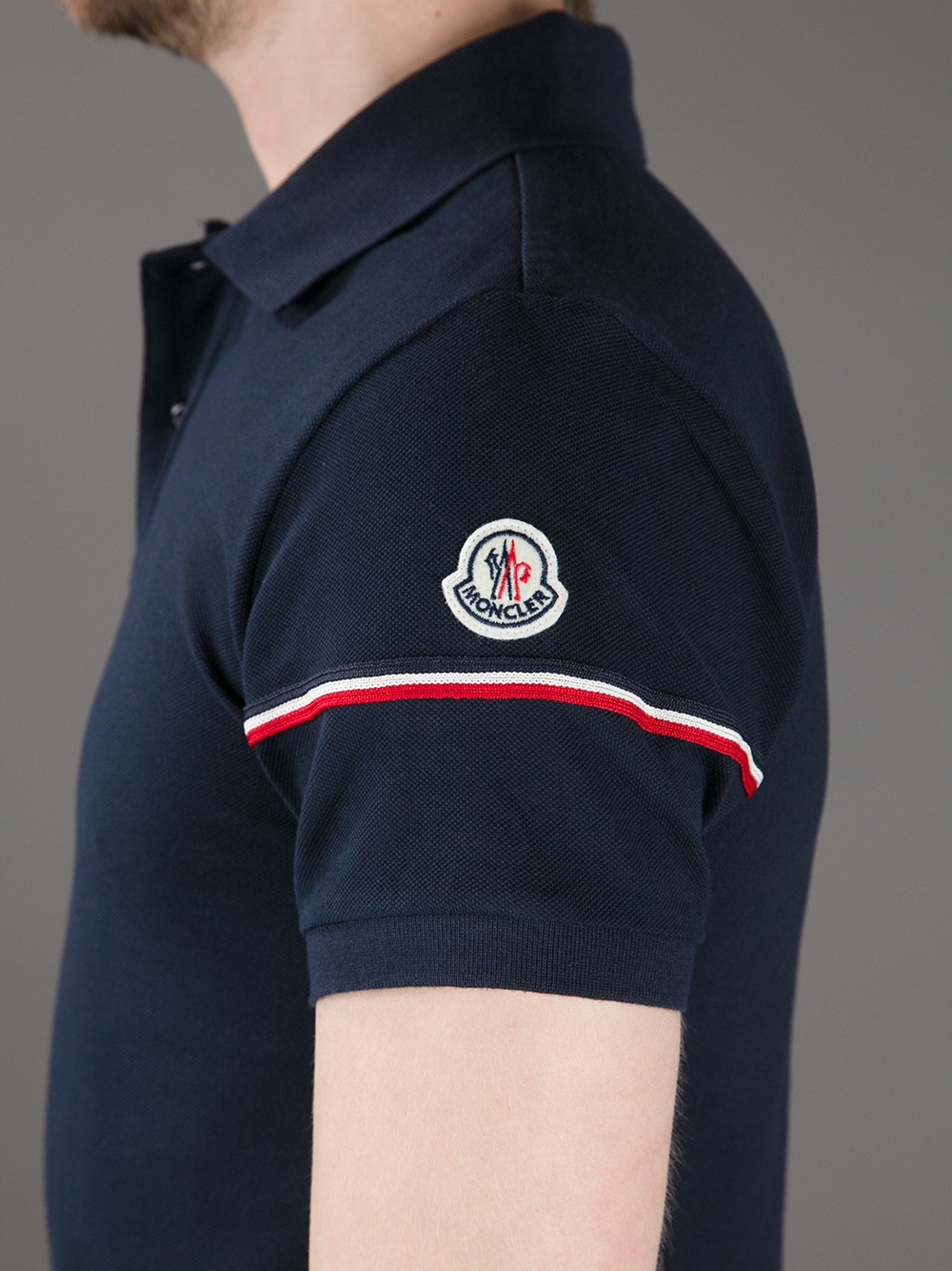 mens moncler polo t shirt