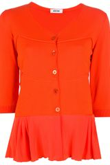 Moschino Frill Panel Cardigan - Lyst