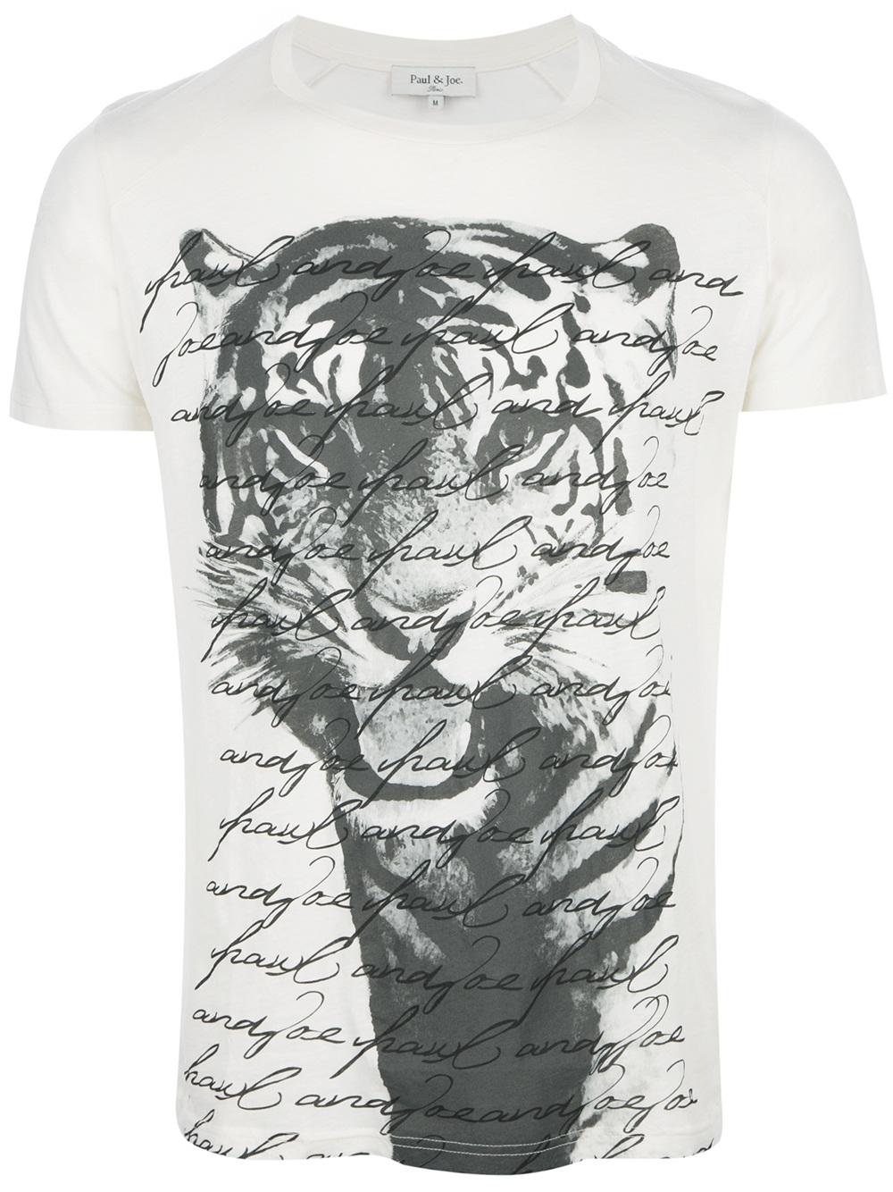 Lyst Paul Amp Joe Bengal Tshirt In White For Men