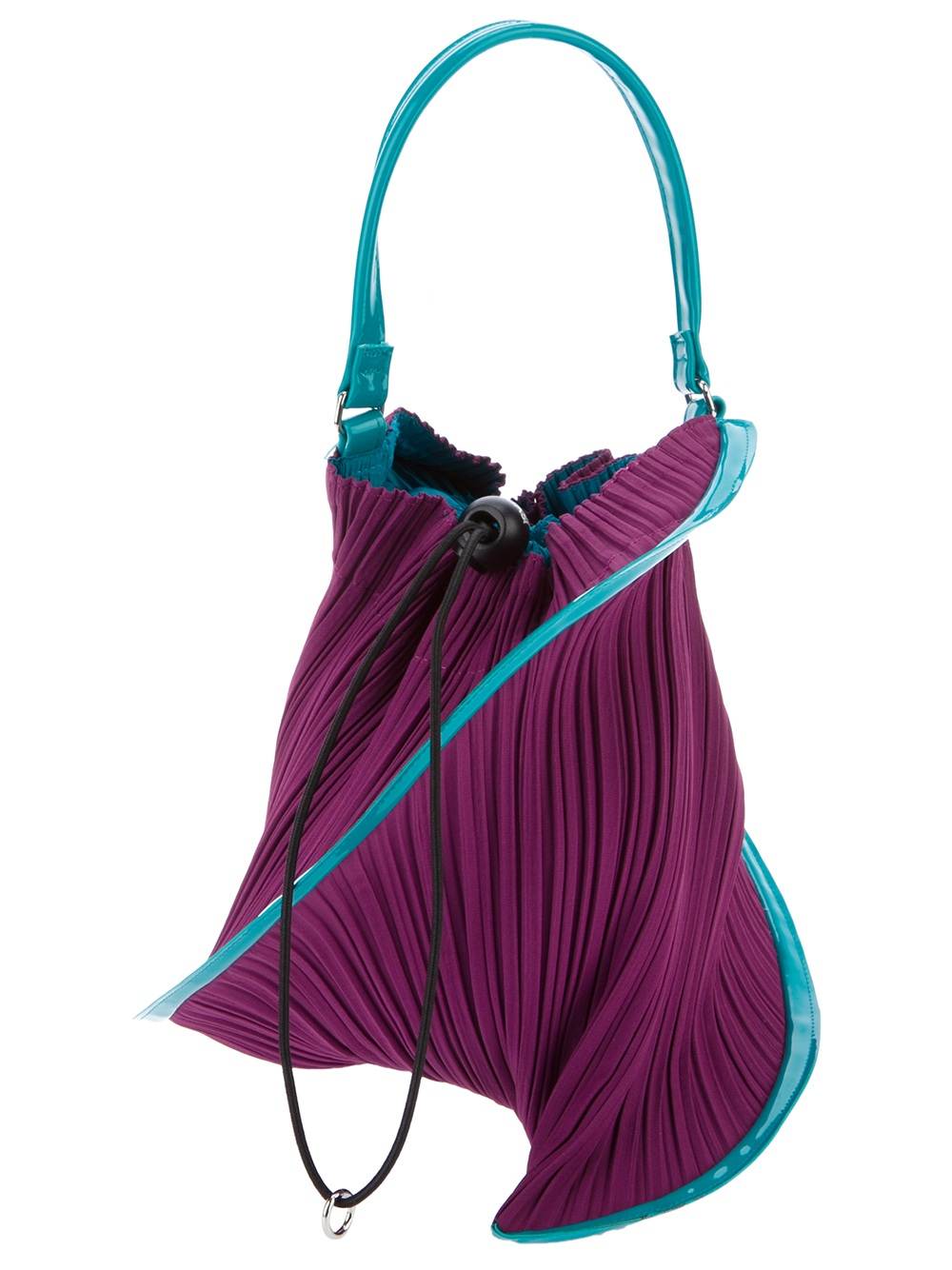 Pleats Please Issey Miyake Pleated Pouch Bag in Blue - Lyst d4c4e0a920