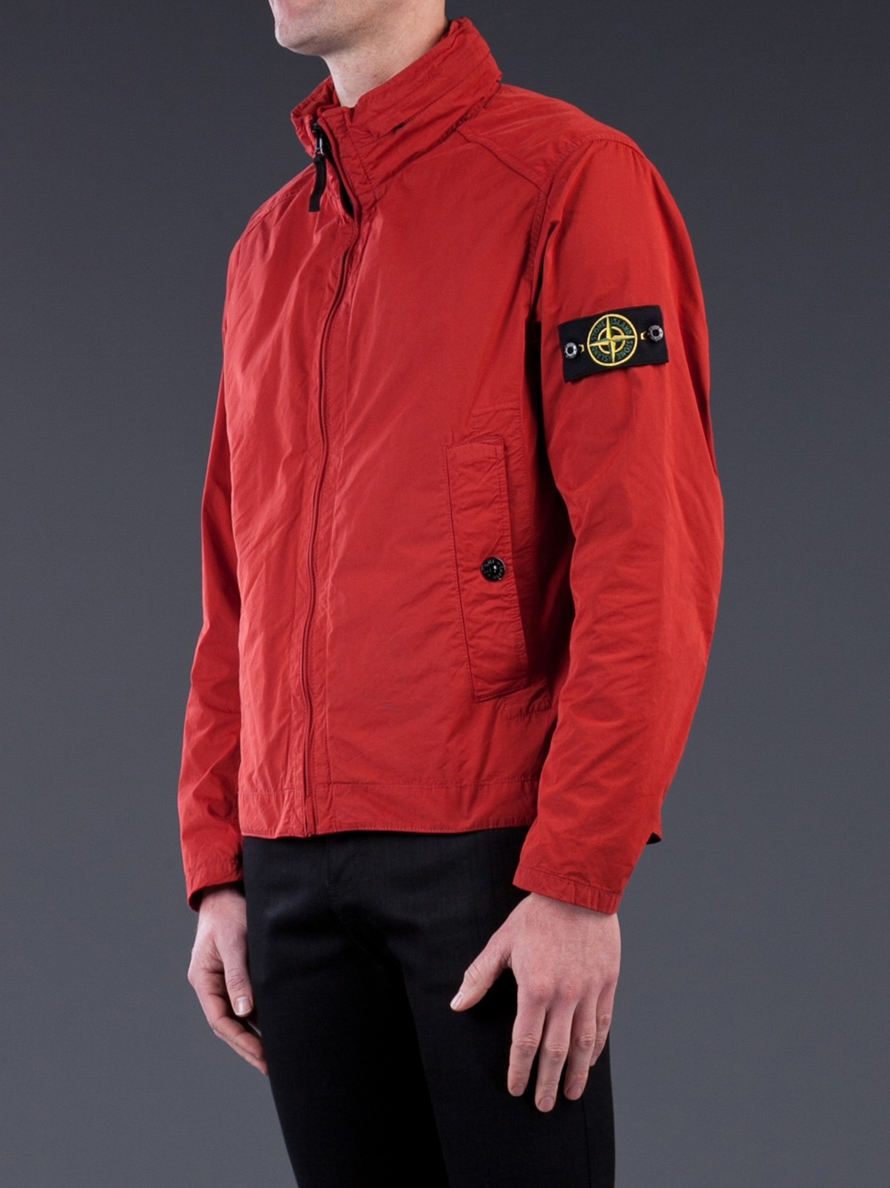 Stone Island Lightweight Jacket In Red For Men