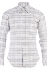 Thom Browne Striped Button Down Shirt - Lyst