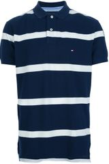 Tommy Hilfiger Striped Polo Shirt - Lyst