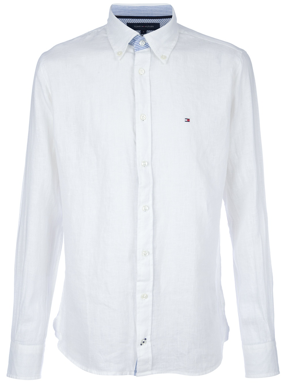 lyst tommy hilfiger classic linen shirt in white for men. Black Bedroom Furniture Sets. Home Design Ideas