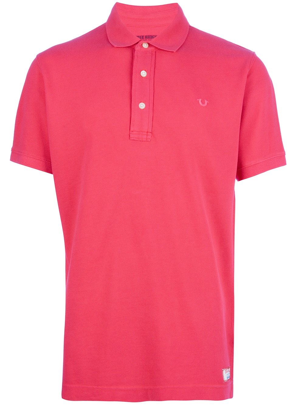 true religion classic polo shirt in red for men lyst