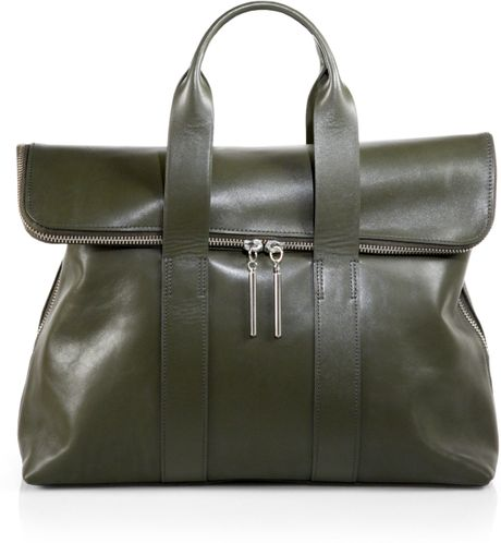 3.1 Phillip Lim 31 Hour Satchel in Green (DARK OLIVE) - Lyst